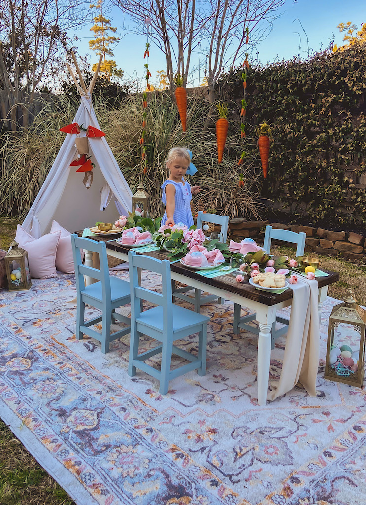 easter outdoor table idea