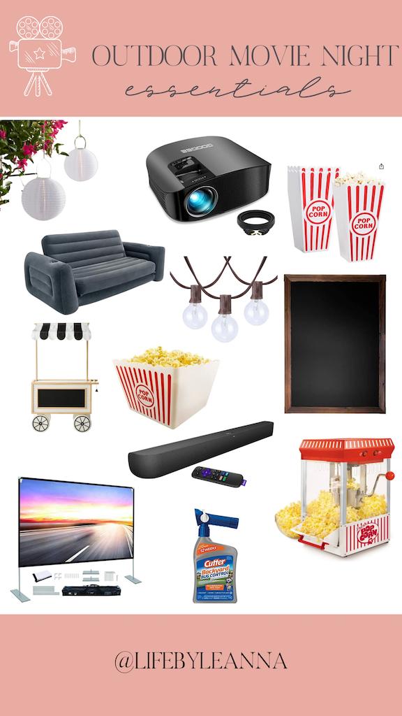 outdoor movie night essentials