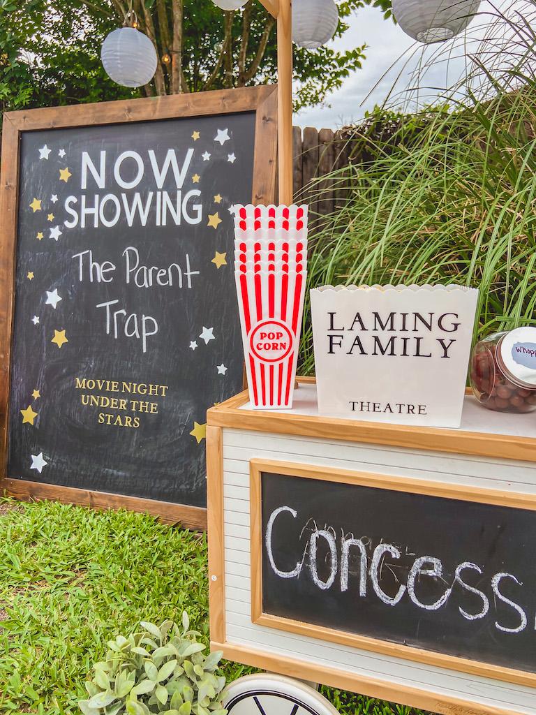 diy chalkboard movie sign
