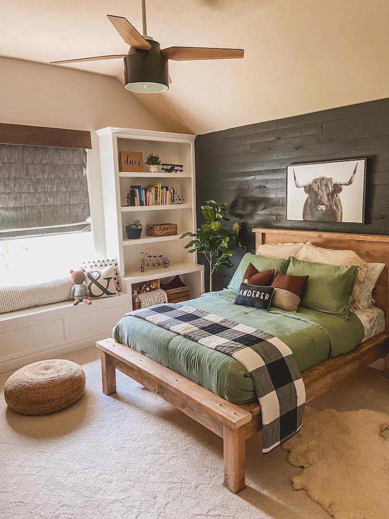 modern farmhouse boy bed